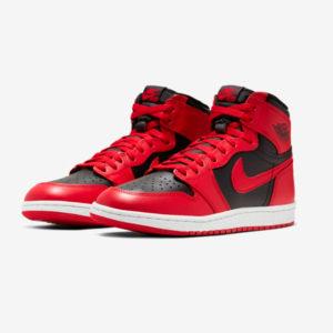 Win Nike Air Jordan 1 HIGH 85 REVERSE BRED Front Side