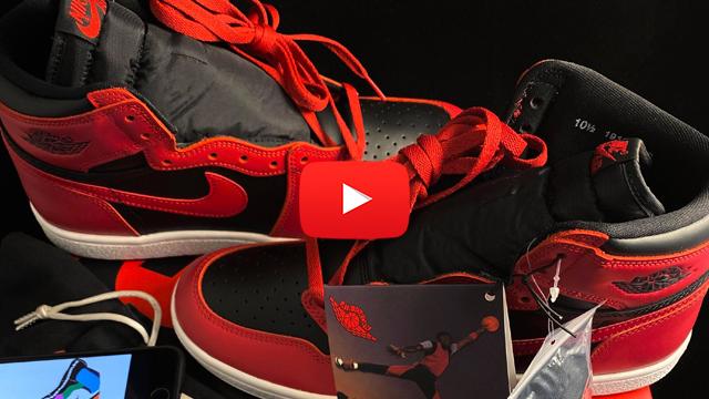 Nike Air Jordan sneakers video screenshot