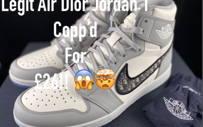 Air Dior Jordan 1 Live Sneaker Competition Draw!